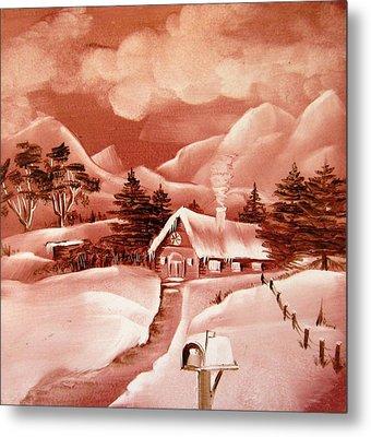 1140b Winter Scene Metal Print by Wilma Manhardt