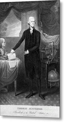 Thomas Jefferson (1743-1826) Metal Print by Granger