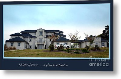12000 Sf House Metal Print by Renee Trenholm