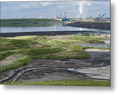 Oil Industry Pollution Metal Print by David Nunuk