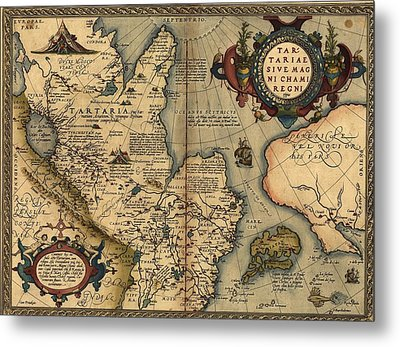 1570 Map Of Tartaria Spanning All Metal Print by Everett