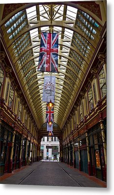 Leadenhall Market London Metal Print by David Pyatt