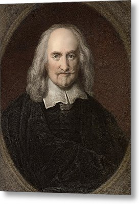 1660 Thomas Hobbes English Philosopher Metal Print by Paul D Stewart