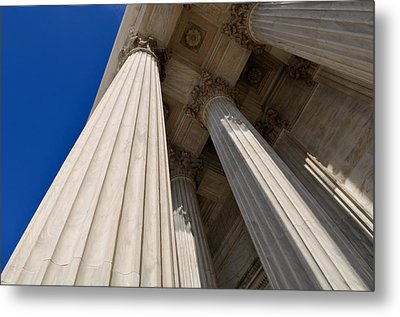 Pillars Of Law And Justice Metal Print