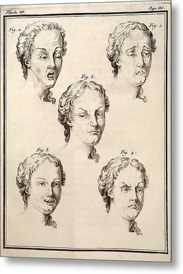 1749 Human Emotions And Expression Buffon Metal Print by Paul D Stewart