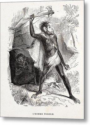 1861 Fossil Man By Boitard Metal Print by Paul D Stewart