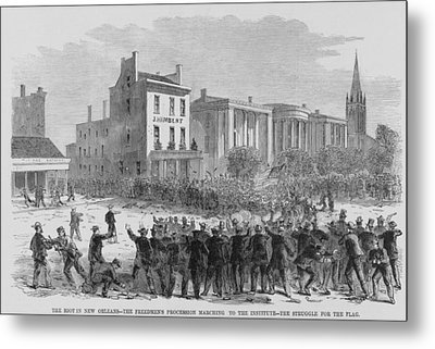 1866 Race Riot In New Orleans Was One Metal Print