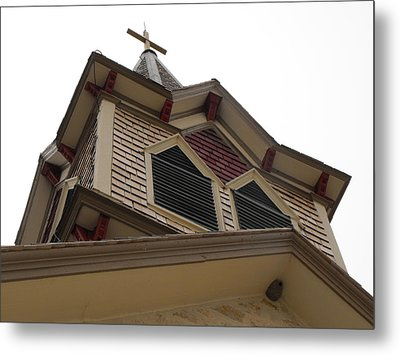 1886 Norse Church In Texas Metal Print by Rebecca Cearley