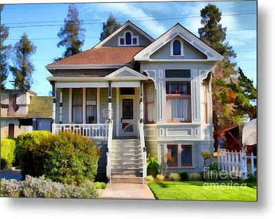 1890s Queen Anne Style House . 7d12965 Metal Print by Wingsdomain Art and Photography