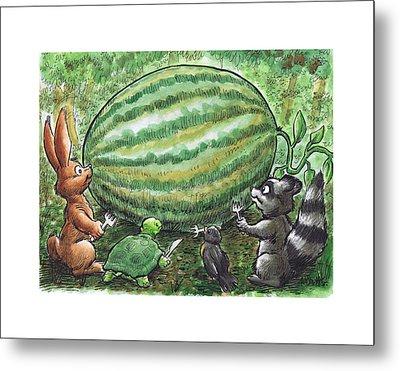 19 - Cypress Creek Wma - Watermelon Metal Print by Rob Smith