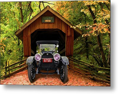 Metal Print featuring the photograph 1914 Reo Emerges by Bill Dutting