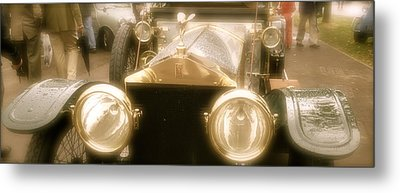 Metal Print featuring the photograph 1920s Rolls Royce Detail by John Colley