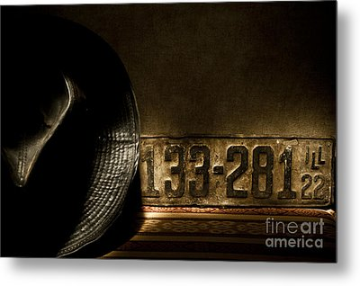 1922 License Metal Print by Ronald Hoggard