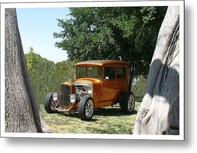 1929 Ford Butter Scorch Orange Metal Print by Jack Pumphrey