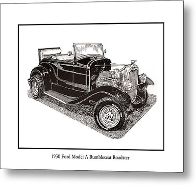 1930 Ford Model A Roadster Metal Print