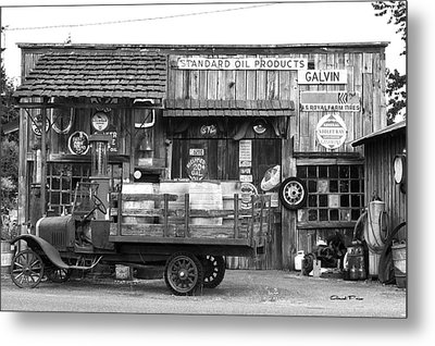 1930's Gas Station Metal Print by Ansel Price