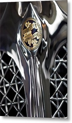 1931 Chrysler Cg Imperial Roadster Hood Emblem Metal Print by Jill Reger