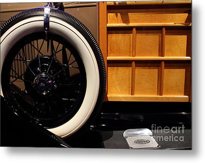 1931 Ford Model A Station Wagon - 7d17491 Metal Print by Wingsdomain Art and Photography