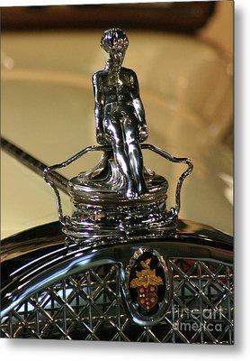 1931 Packard Hood Ornament Metal Print by Deborah  Smith