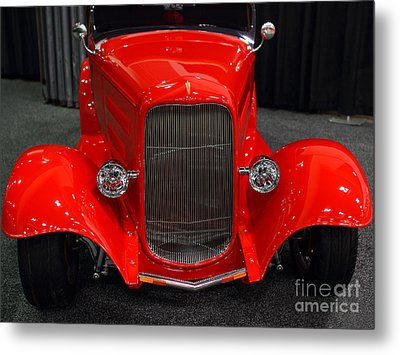 1932 Ford Roadster . Red . 7d9286 Metal Print by Wingsdomain Art and Photography