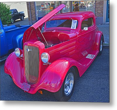 Metal Print featuring the photograph 1934 Chevy Coupe by Tikvah's Hope