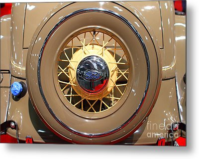 1934 Ford Model 40 Deluxe Cabriolet . 7d9357 Metal Print by Wingsdomain Art and Photography