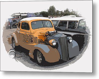 1937 Chevy Coupe Metal Print by Steve McKinzie