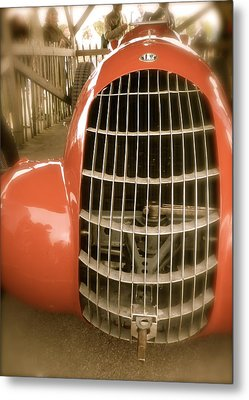 Metal Print featuring the photograph 1938 Alfa Romeo 308c Front Grill by John Colley