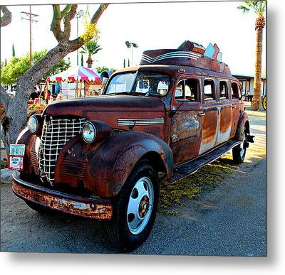 Metal Print featuring the photograph 1939 Chevy Sedan Limo by Jo Sheehan