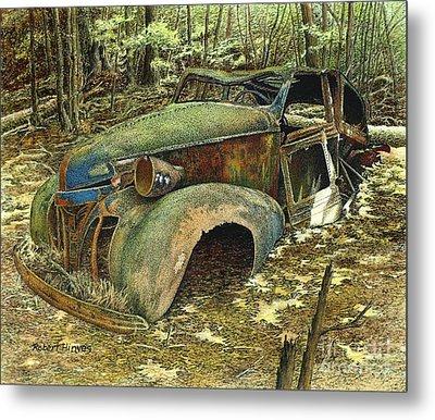 1939 Pontiac Metal Print by Robert Hinves