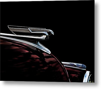 1940 Chevy Hood Ornament Metal Print by Douglas Pittman