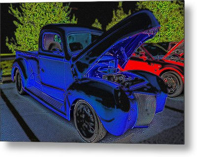 1940 Ford Pick Up Metal Print by Rebecca Frank
