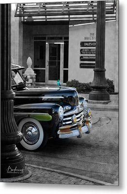 1940s Ford Out Of The Past Metal Print by Robin Lewis