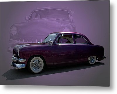 1950 Custom Ford Street Rod Metal Print