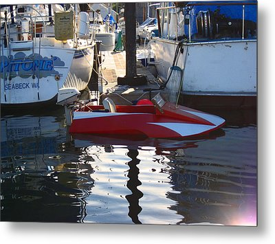 1950's Custom Hydroplane Metal Print by Kym Backland