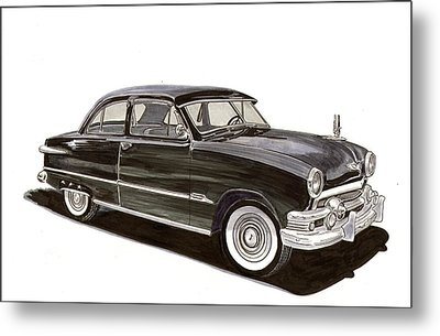 1951 Ford 2 Dr Sedan Metal Print by Jack Pumphrey