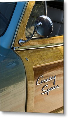 1951 Ford Woodie Country Sedan Metal Print by Jill Reger