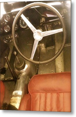 Metal Print featuring the photograph 1952 Aston Martin Db3 Cockpit by John Colley