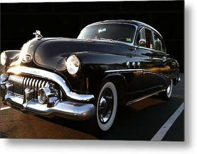 Metal Print featuring the photograph 1952 Buick In Black by Elizabeth Coats