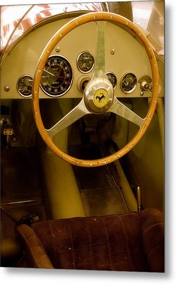 Metal Print featuring the photograph 1952 Ferrari 500 625 Cockpit by John Colley