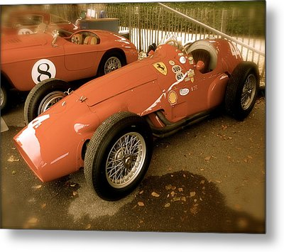 Metal Print featuring the photograph 1952 Ferrari 500 625 by John Colley