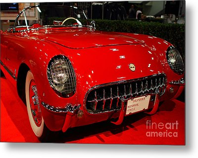 1954 Chevrolet Corvette . Red . 7d9157 Metal Print by Wingsdomain Art and Photography
