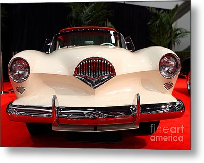 1954 Kaiser Darrin Roadster . 7d9182 Metal Print by Wingsdomain Art and Photography