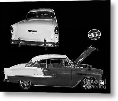 1955 Chevy Bel Air 2 Door Hard Top Metal Print by Tim Mulina