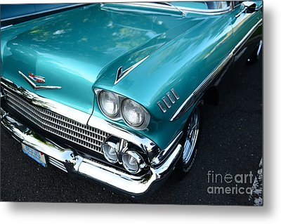 1955 Chevy Belair Front End Metal Print by Paul Ward