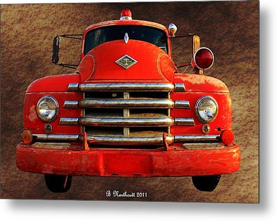 1955 Diamond T Grille - The Cadillac Of Trucks Metal Print by Betty Northcutt