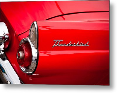 1955 Ford Thunderbird Metal Print by David Patterson