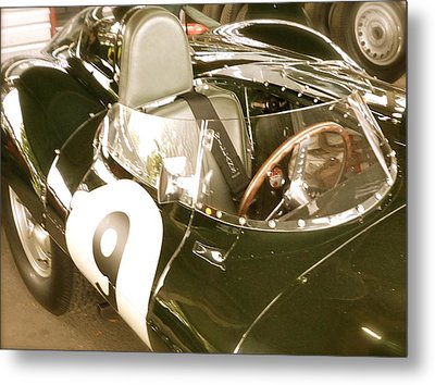 Metal Print featuring the photograph 1955 Jaguar D Type by John Colley