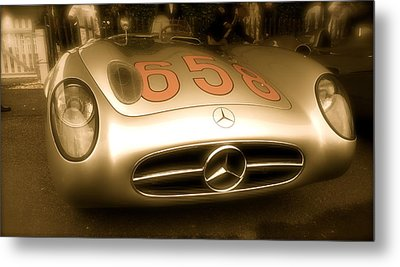 Metal Print featuring the photograph 1955 Mercedes Benz 300slr Fangio by John Colley