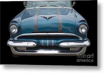 1955 Pontiac Star Chief Front Metal Print by Betty LaRue